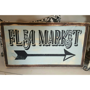Framed Wood Sign - Flea Market