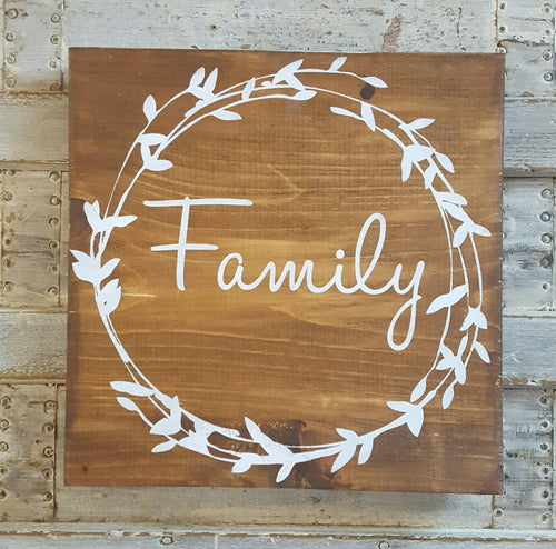 Wood Sign - Family