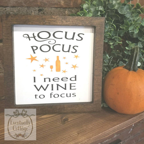 Framed Wood Sign - Hocus Pocus