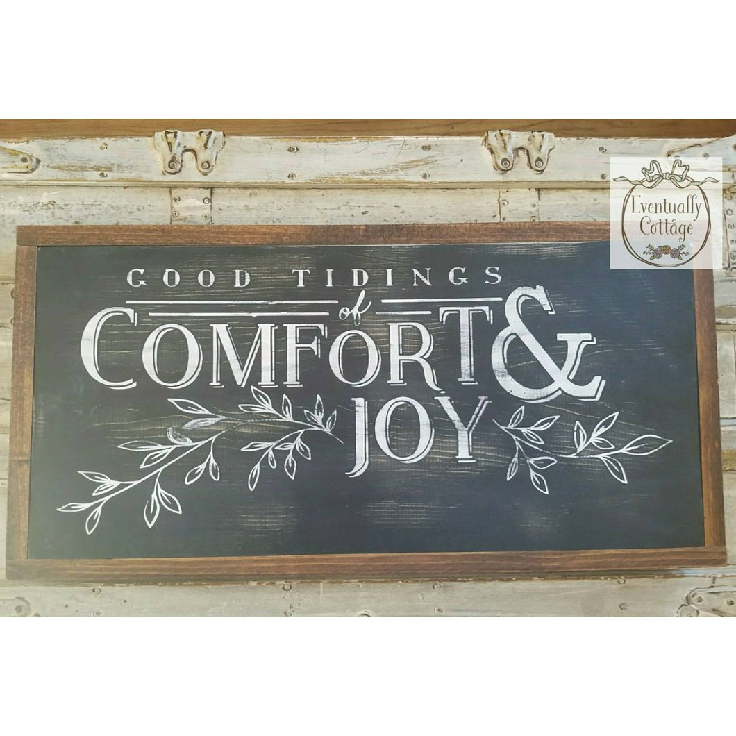 Framed Wood Sign - Good Tidings of Comfort and Joy