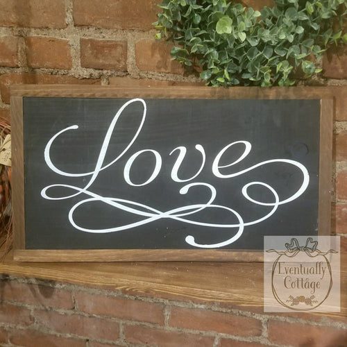 Framed Wood Sign - Love