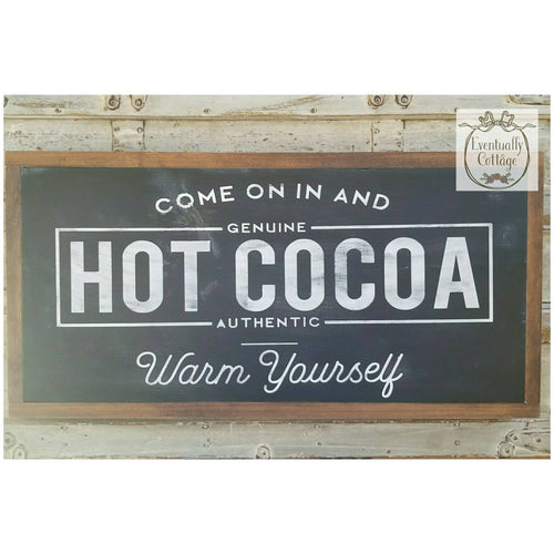 Framed Wood Sign - Hot Cocoa