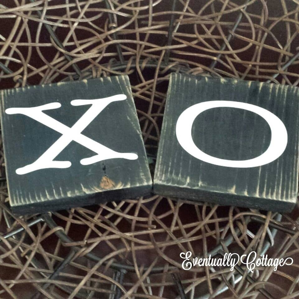 Wood Sign Set - XO