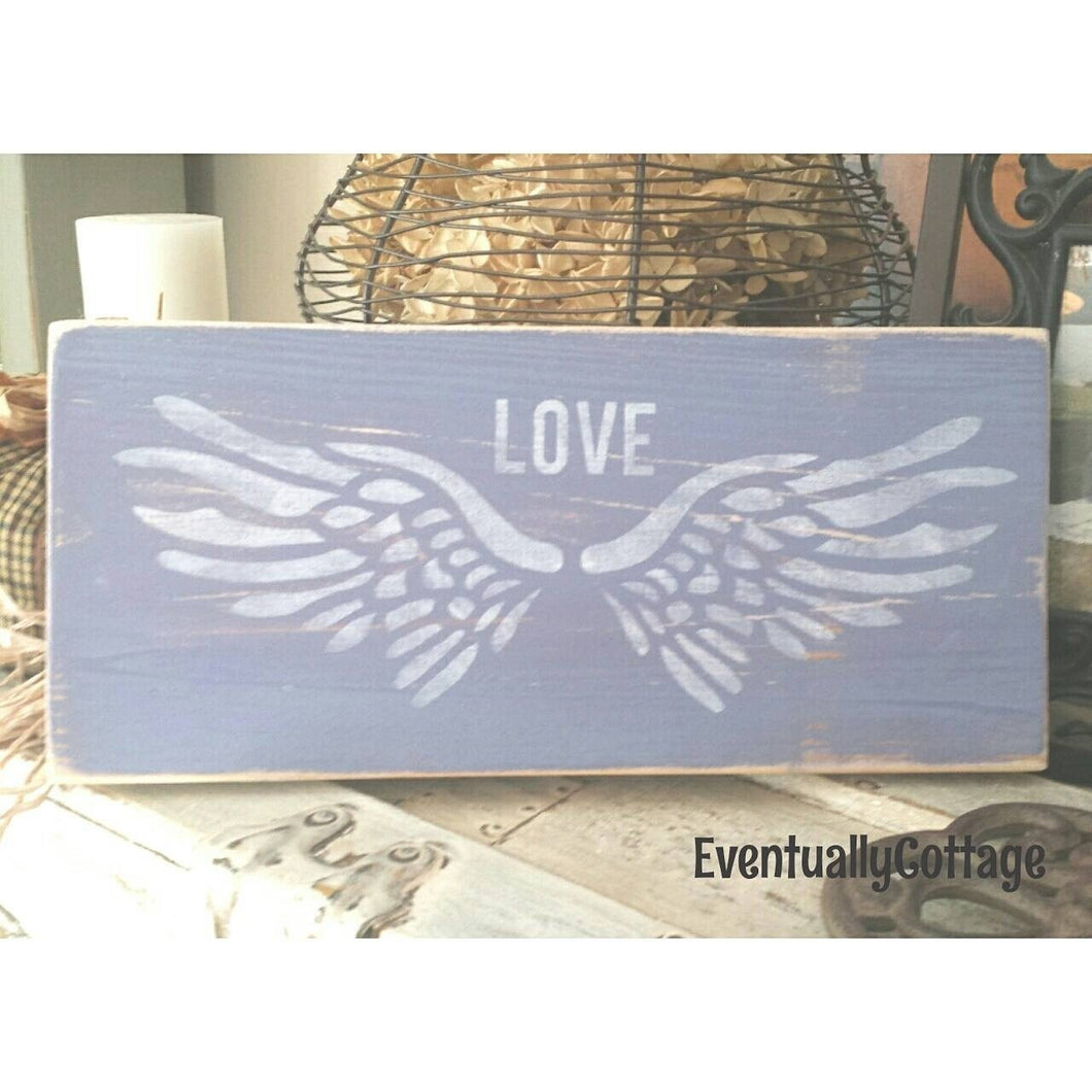 Wood Sign - Angel Wings
