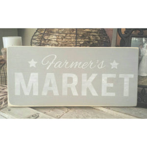 Wood Sign - Farmer's Market