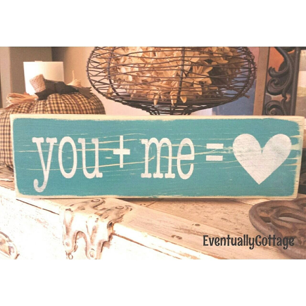 Wood Sign - You + Me