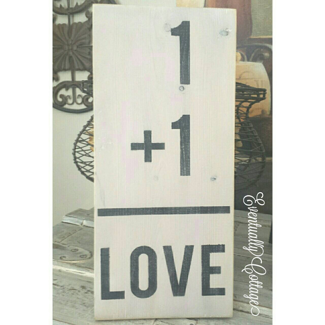 Wood Sign - Flashcard | Love