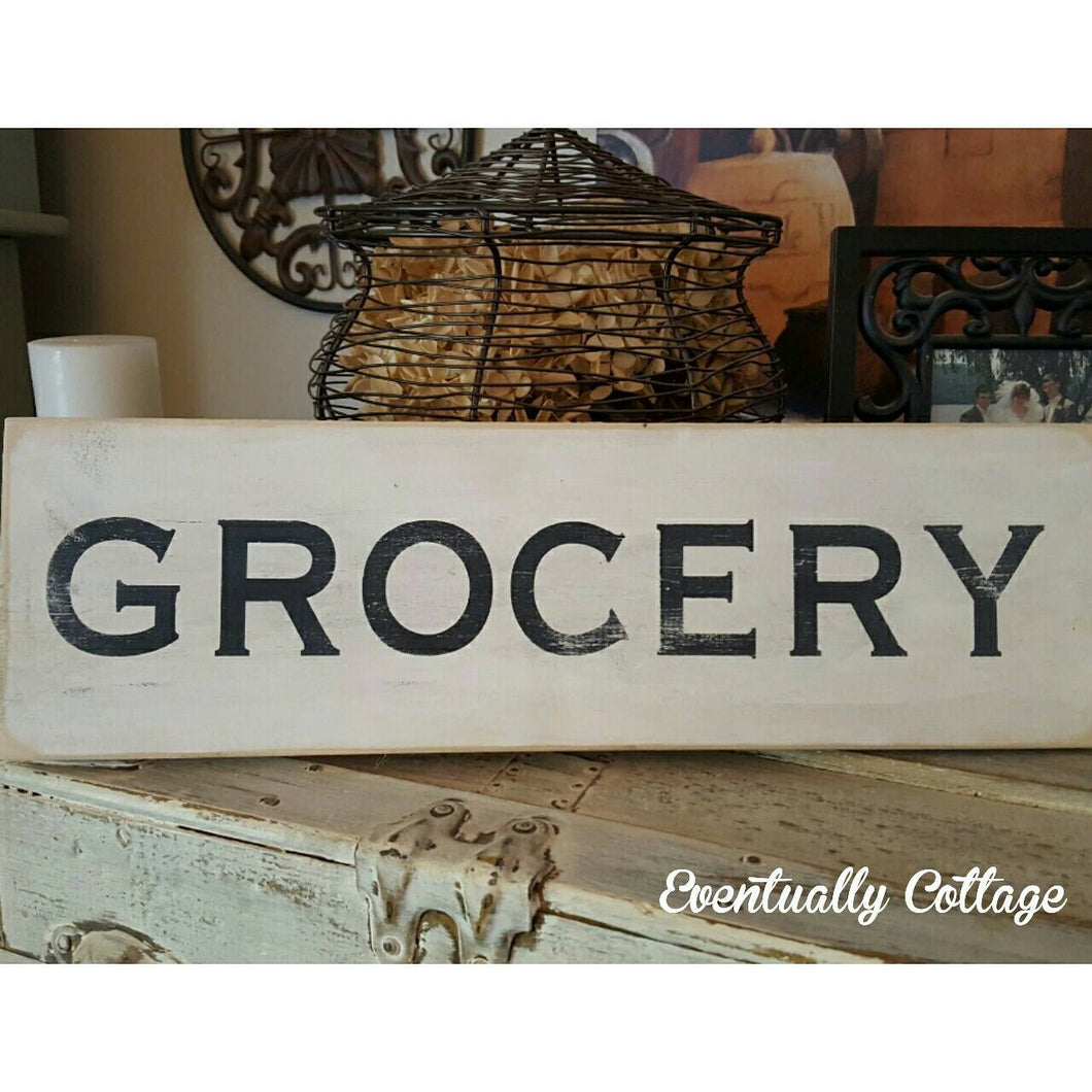 Wood Sign - Grocery
