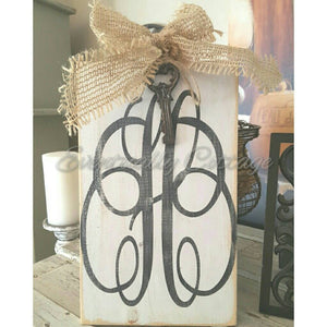 Wood Sign - Monogram