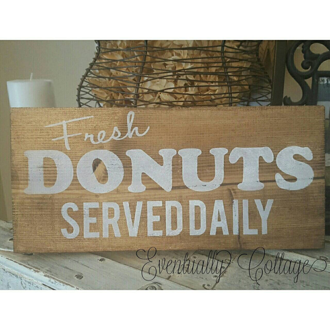 Wood Sign - Fresh Donuts