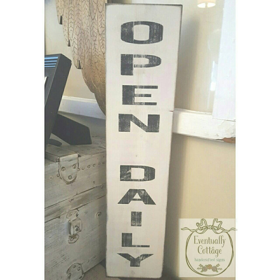 Wood Sign - Open Daily