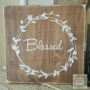 Wood Sign - Blessed
