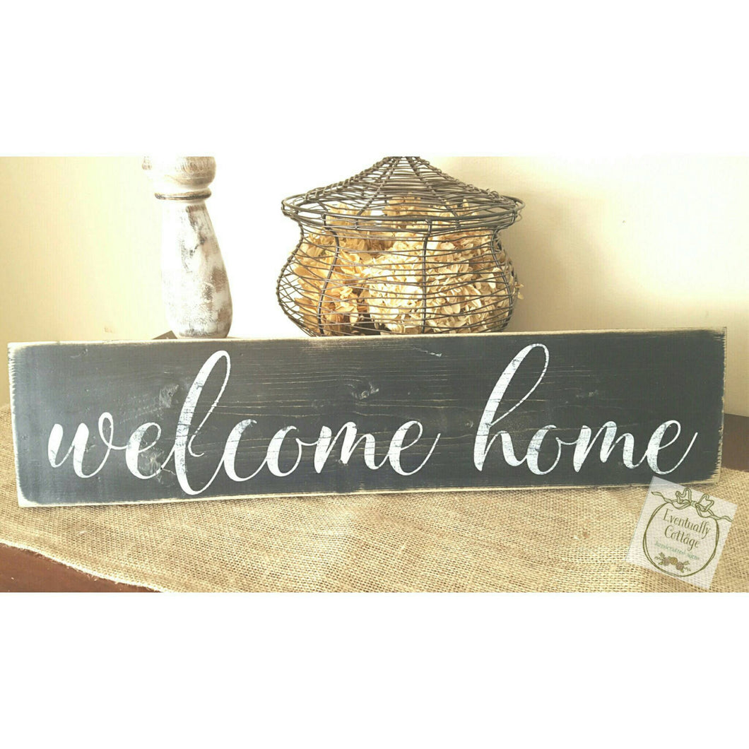 Wood Sign - Welcome Home