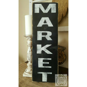 Wood Sign - Market