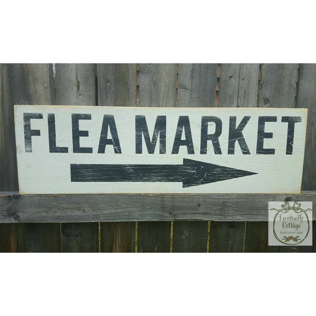 Wood Sign - Flea Market