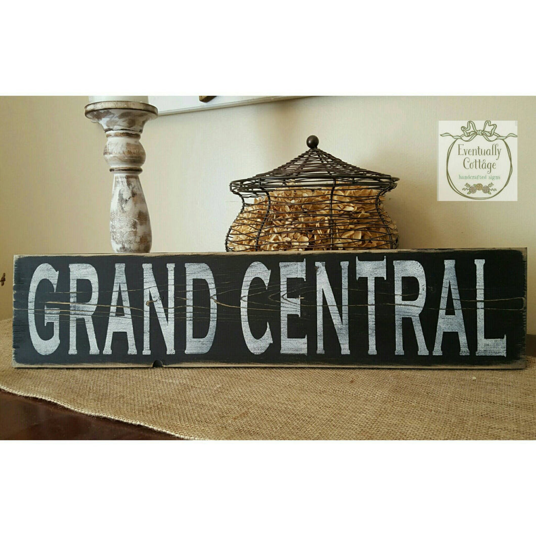 Wood Sign - Grand Central