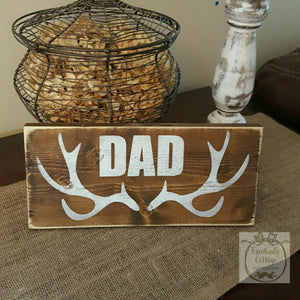 Wood Sign - Antlers | Personalized