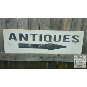 Wood Sign - Antiques