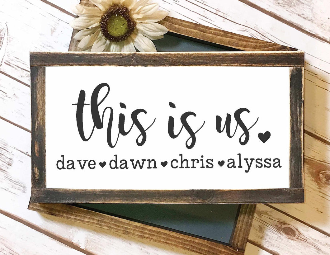 Framed Sign - This Is Us Personalized Sign