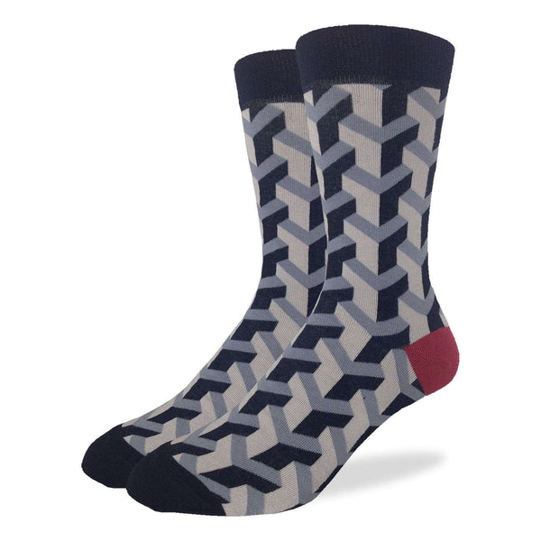Grey Geometric Socks