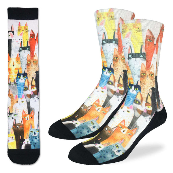 Cat Party Active Fit Socks