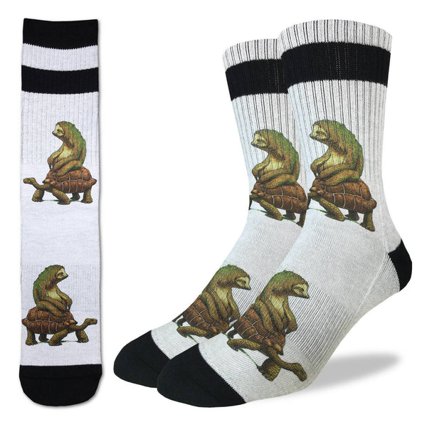 Tortoise and the Sloth Socks