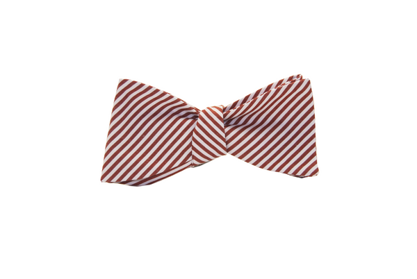 Burnt orange candy stripe