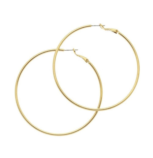 FULL CIRCLE HOOP EARRINGS (GOLD)
