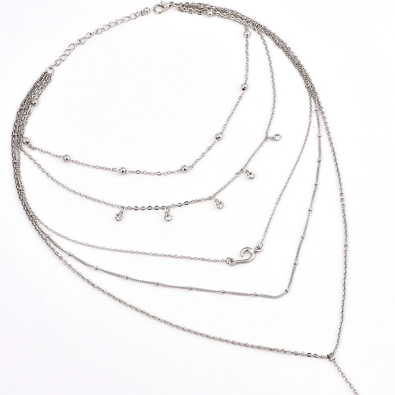 MYKONOS LAYERED NECKLACE (SILVER) - PRE ORDER