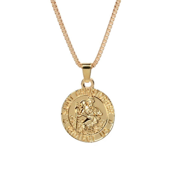 ST CHRISTOPHER NECKLACE (GOLD)