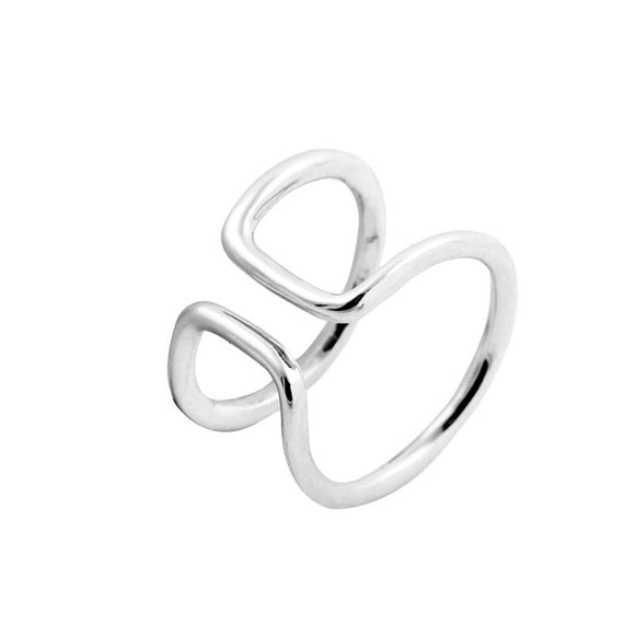 DOUBLE BAR RING (SILVER)