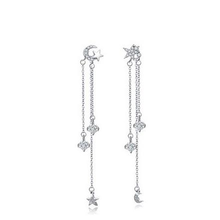 LUXE MINI LUNA EARRINGS (SILVER)