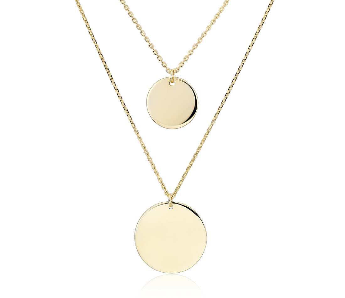 DOUBLE DISC NECKLACE (GOLD) - PRE ORDER