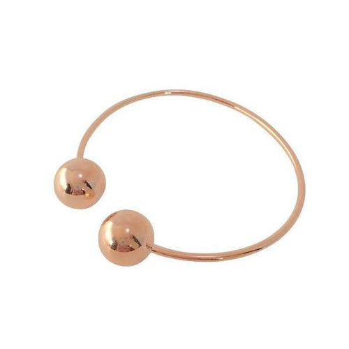DOUBLE BALLIN BANGLE (ROSE GOLD)
