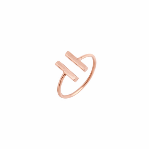 BAR RING (ROSE GOLD)