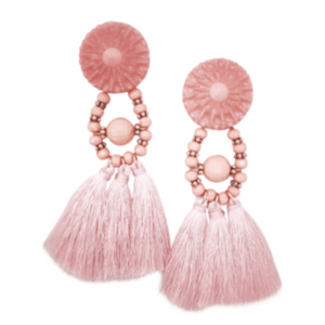 BELLA BEADED EARRINGS (PINK)
