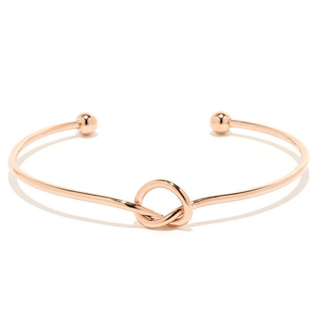 NOT SO SQUARED BANGLE (ROSE GOLD)