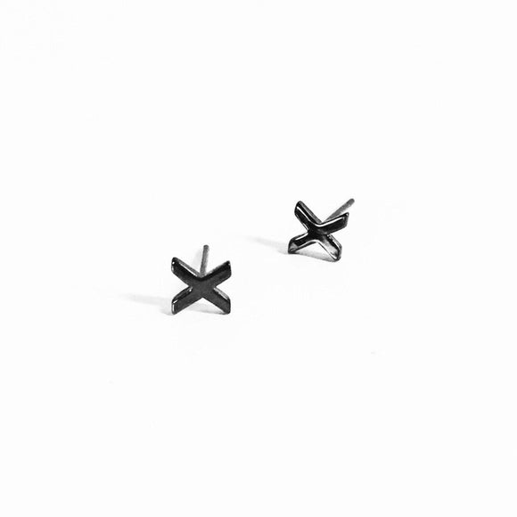 XX EARRINGS (BLACK), [product-type] - Minimalist Jewellery