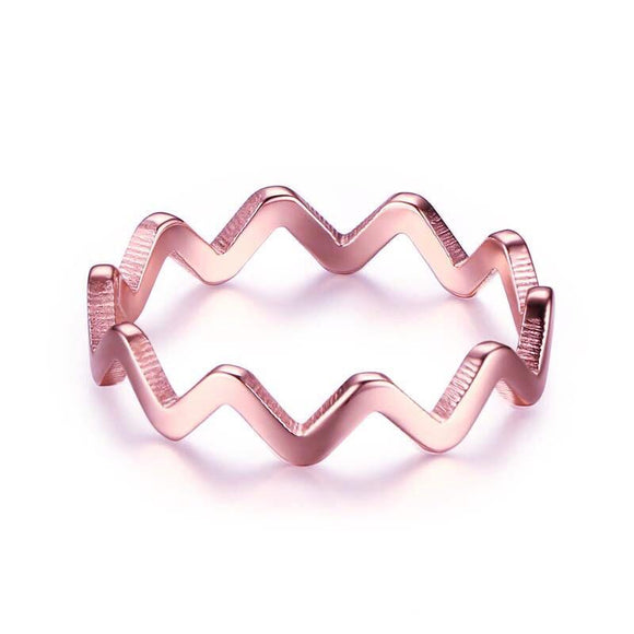 ZIGGY ZAG RING (ROSE GOLD), [product-type] - Minimalist Jewellery