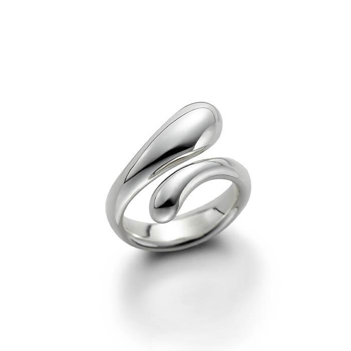 TEAR DROP RING (SILVER)
