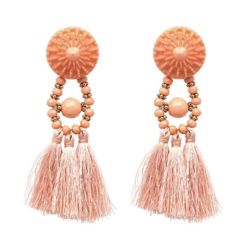 BELLA BEADED EARRINGS (APRICOT)