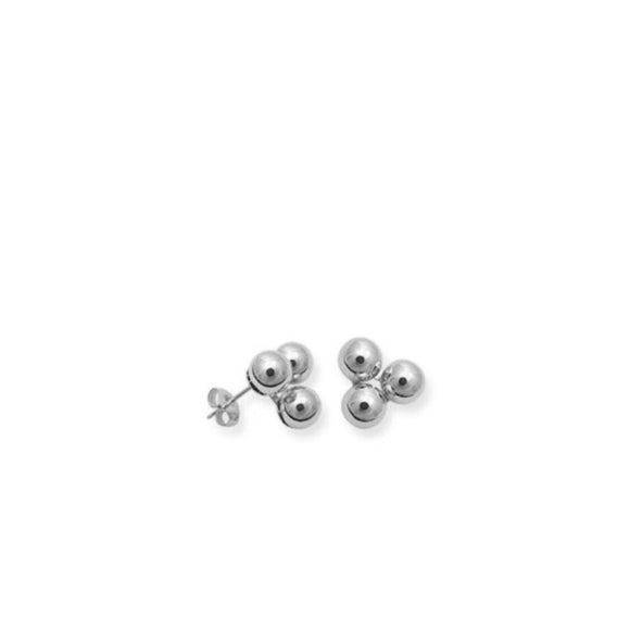 TRIPLE BALLIN EARRINGS (SILVER)