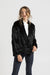 Monaco Fur Jacket - Black