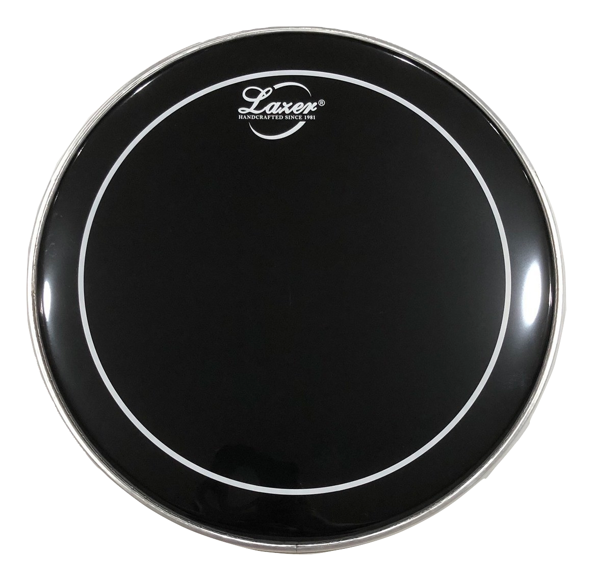 "Black with White Ring Drumhead (6"" ~ 18"")"
