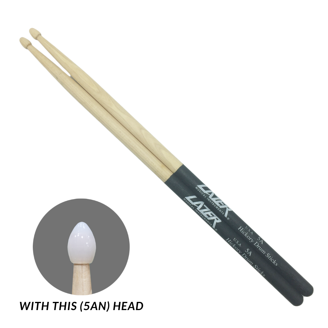 Black Anti-Slide Hickory Drumstick (PC163)