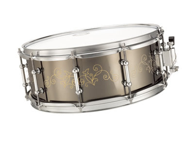 Bronze Snare Drum, Black Nickel Plated (PC8-19)