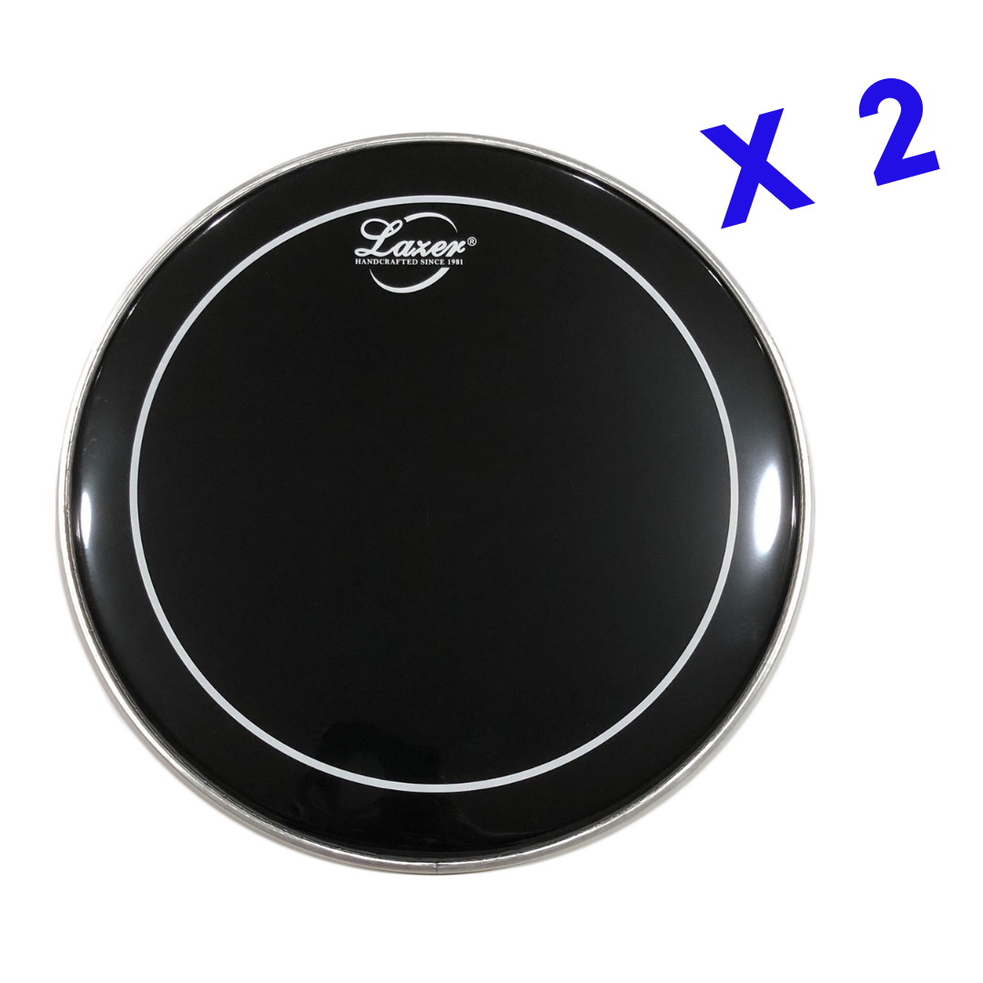 Black with White Ring Drumhead (PE-077-14)