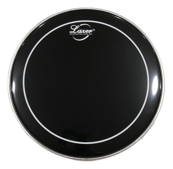 "Black with White Ring Drumhead, Bass Drum (18"" ~ 28"")"