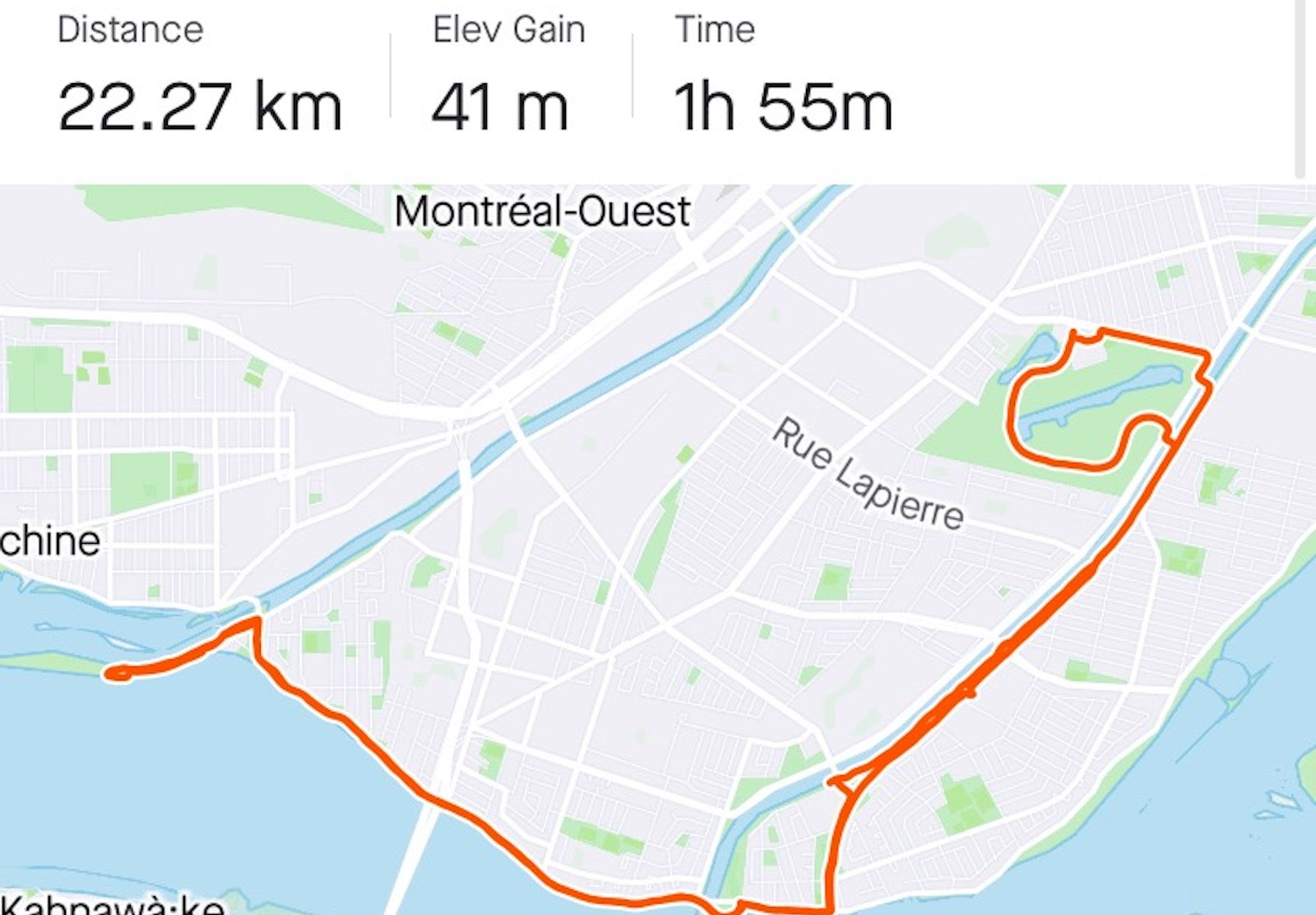 Map of my rides after cycling changed my life forever