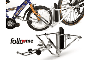Parent-child bicycle coupling FollowMe Tandem